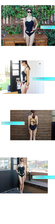 CB25058 1 CB25058 ชุดว่ายน้ำวันพีช สีดำแบบเรียบเก๋