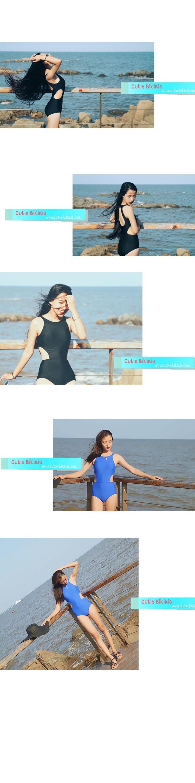 CB25107 1 CB25107 ชุดว่ายน้ำวันพีช  แบบเรียบเก๋